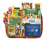 60th Birthday Gift Basket for 1959 with Coins