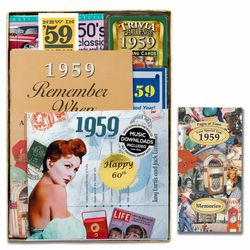Personalized 60th Birthday Time Capsule for 1959
