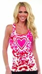 Tie-Dye Valentine's Heart Ribbed Tank Top
