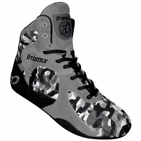 Lady's Grey Camo Stingray Bodybuilding Weightlifting Shoes