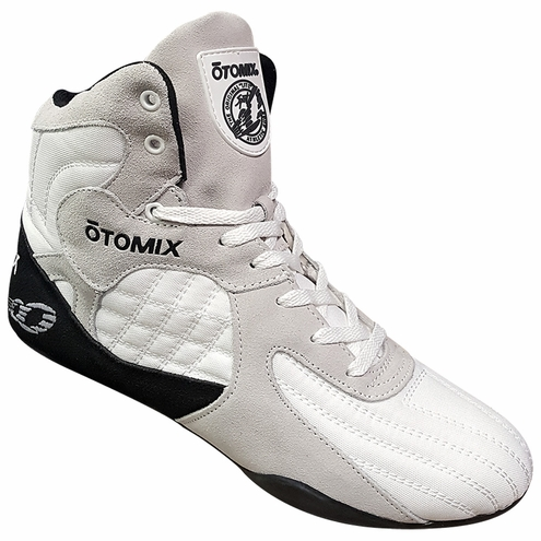Lady's White Stingray Bodybuilding Weightlifting Shoes