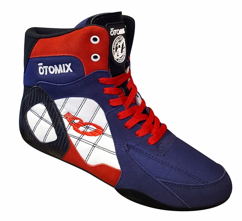 Lady's Red, White & Blue USA Ninja Warrior Bodybuilding, Wrestling & Boxing Shoe