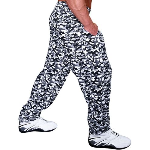 Grey Camoflauge Baggy Workout Pant