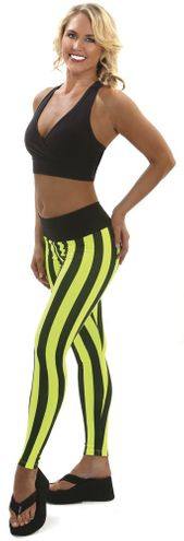 Hot Skins Stripe Yoga Fitness Leggings