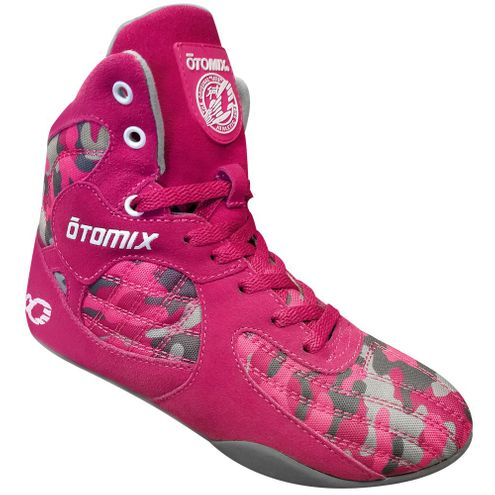Limited Edition Female Pink Camo Stingray Bodybuilding Boxing MMA Shoes