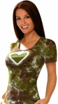 Olive & Chocolate Tie-Dye Heart Tee