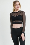Fishnet Crop Gym Cover Up