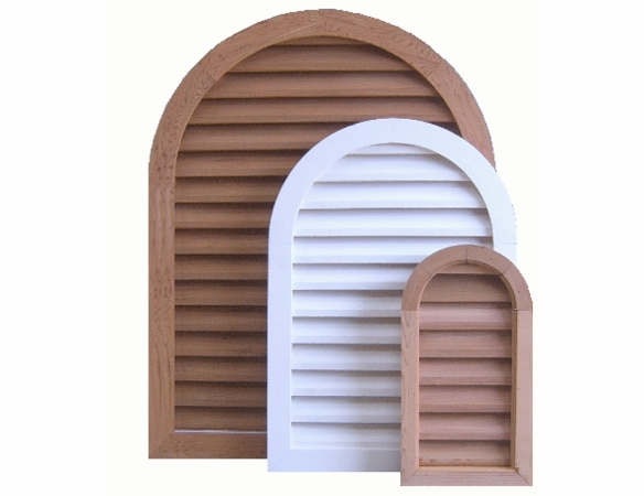 "10 x 24 Arched ""Tombstone"" Gable Vent"