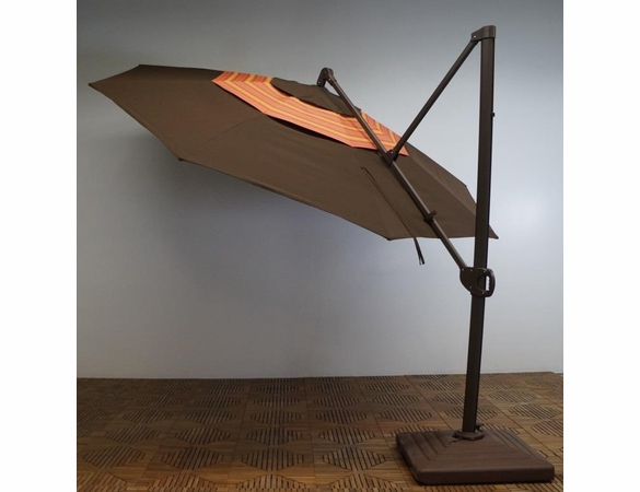 12 Ft Cantilever Umbrella w/ Trigger Lift & Double Wind Vent