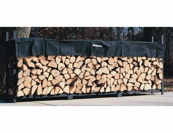 12' Woodhaven Firewood Rack With Cover - 3/4 Cord