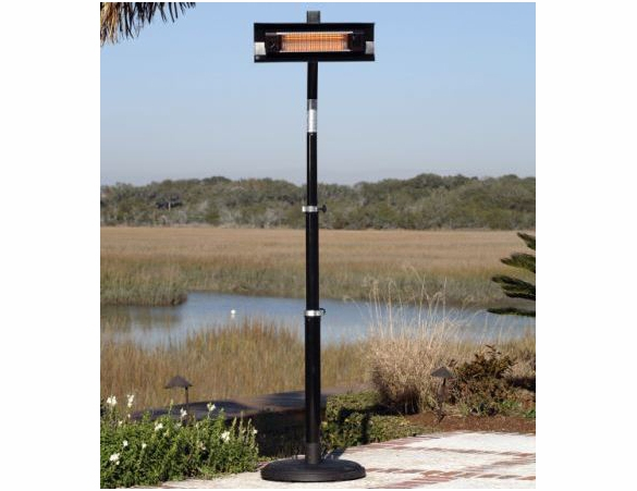 1500 Watt Black Steel Telescoping Offset Pole Mounted Infrared Patio Heater