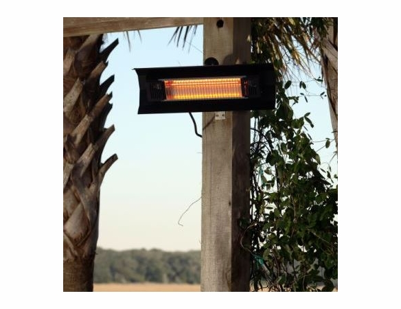 1500 Watt Black Steel Wall Mounted Infrared Patio Heater with Bracket