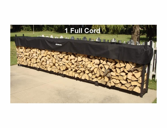 16' Woodhaven Firewood Rack With Cover - 1 Cord