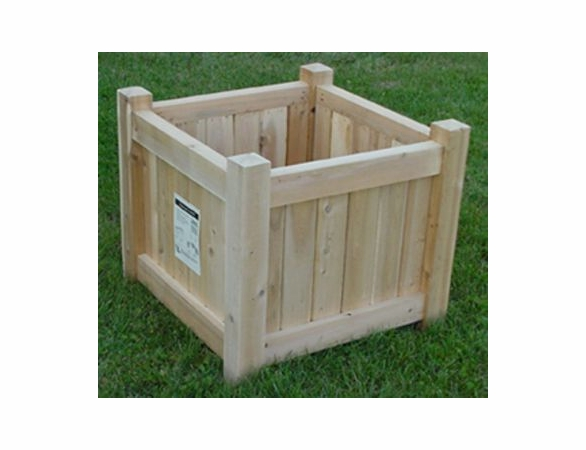 "18"" or 24"" Cube Planter: Natural or White"