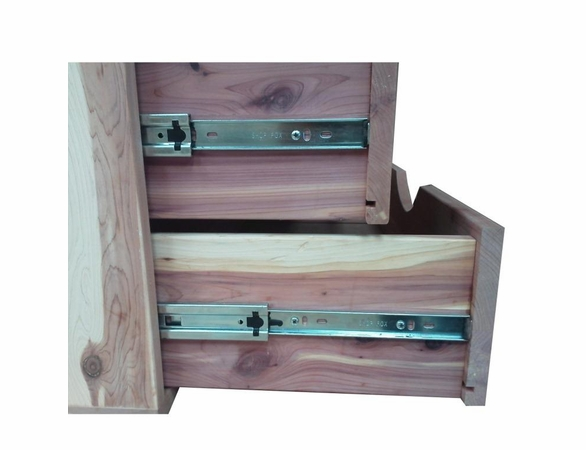 "2 Cedar Drawers:  Stackable Closet Organizer Unit - 14"" Wide - Exclusive Item"
