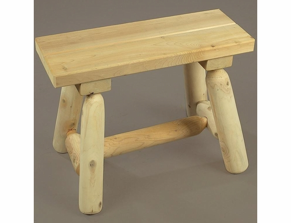 2' Straight Cedar Log Style Bench - Not Currently Available