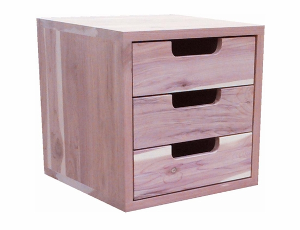 "3 Cedar Drawers: Stackable Closet Organizer Unit - 14"" Wide - Exclusive Item"