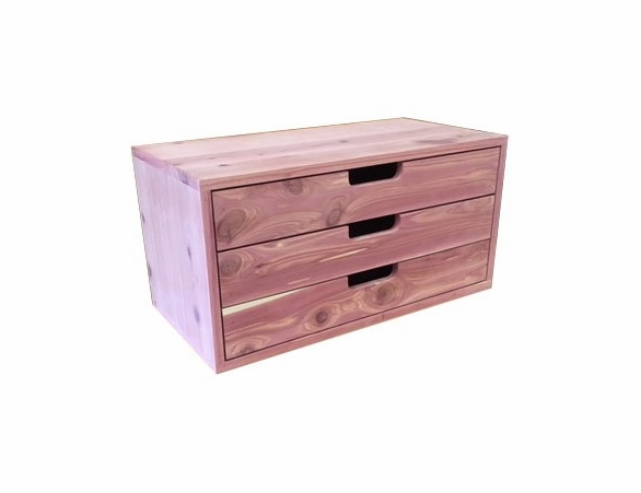 "3 Cedar Drawers: Stackable Closet Organizer Unit - 28"" Wide - Exclusive Item"