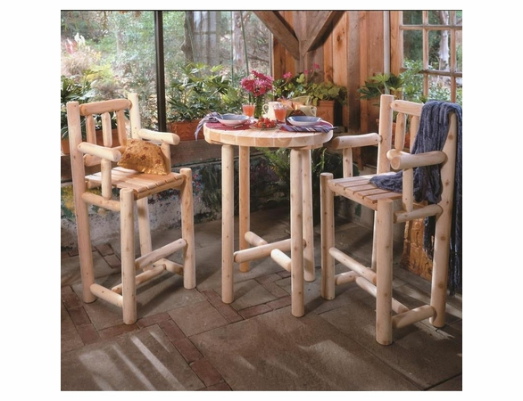 "32"" Log Style Bistro Bar Set"