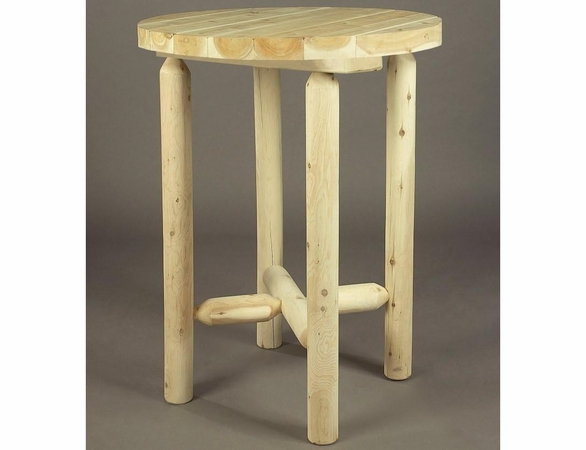 "32"" Dia Round Cedar Log Style Bistro Table - Not Currently Available"