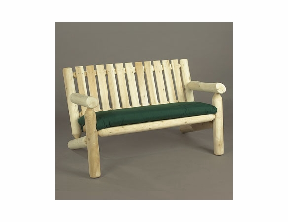 4' Cedar Log Style Garden Settee - Not Currently Available