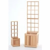 4' Cedar Planter Set with Trellis Kit - Available to Ship End of July