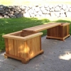 4' Villa Cedar Planter & Bench Set
