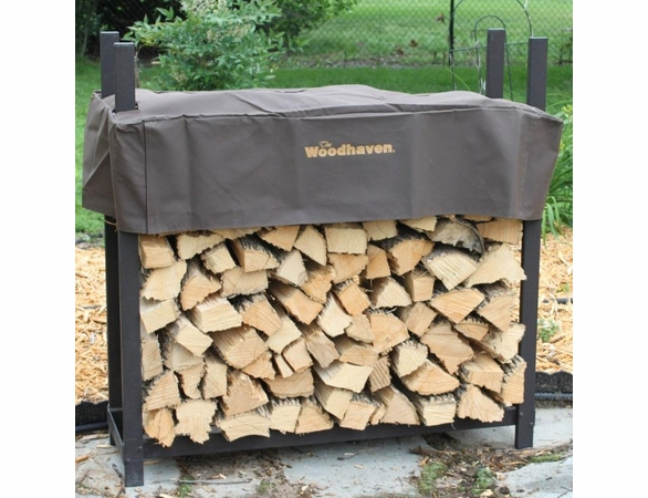 4' Woodhaven Firewood Rack With Cover - 1/4 Cord