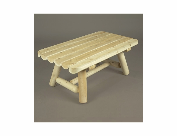 """42"""" Rectangular Cedar Log Style Coffee Table - Not Currently Available"""