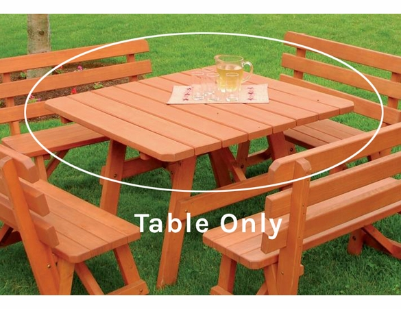 "43"" Traditional Square Table Only in Pine or Cedar"