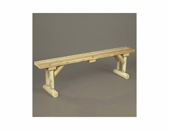 6' Cedar Log Style Dining Bench
