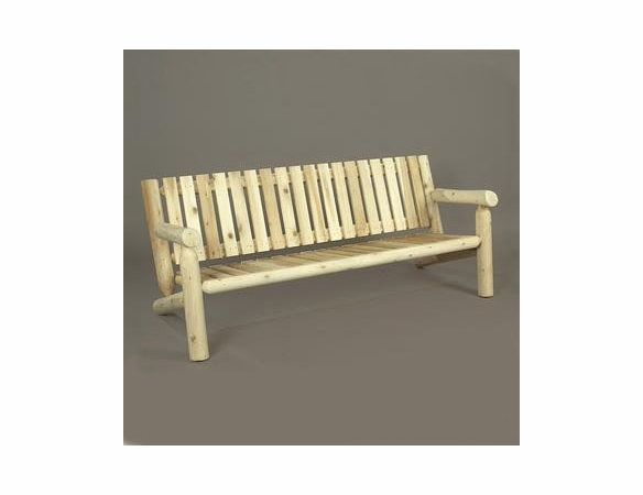 6' Cedar Log Style Garden Settee - Not Currently Available