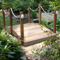 6' Cedar Rope Garden Bridge
