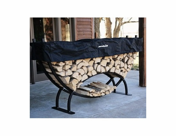8' Woodhaven Crescent Shaped Firewood Rack - 1/3 Cord
