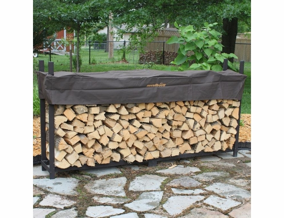8' Woodhaven Firewood Rack With Cover - 1/2 Cord