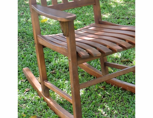Acacia Hardwood Traditional Rocking Chair - Currently Out of Stock