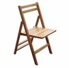 Acacia Wood Folding Dining Chairs - Set/4