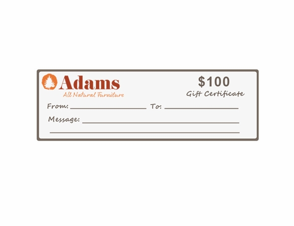 Adams All Natural Gift Certificate