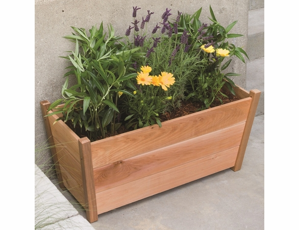 Arboria Alta Rectangular Cedar Planter - Order Today! - Will be Unavailable Aug 29