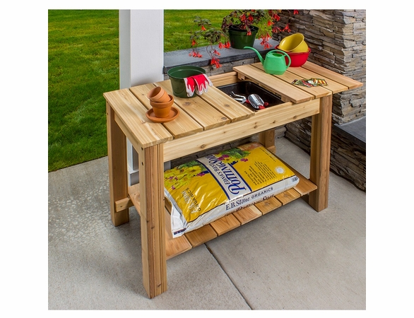 Arboria Classic Cedar Potting Table - Not Currently Available
