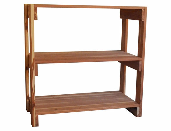 Aromatic Cedar Wood Closet Shelving: 3 Tier - Exclusive Item