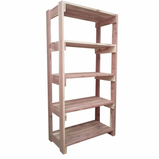 Aromatic Cedar Wood Closet Shelving 5 Tier Exclusive Item
