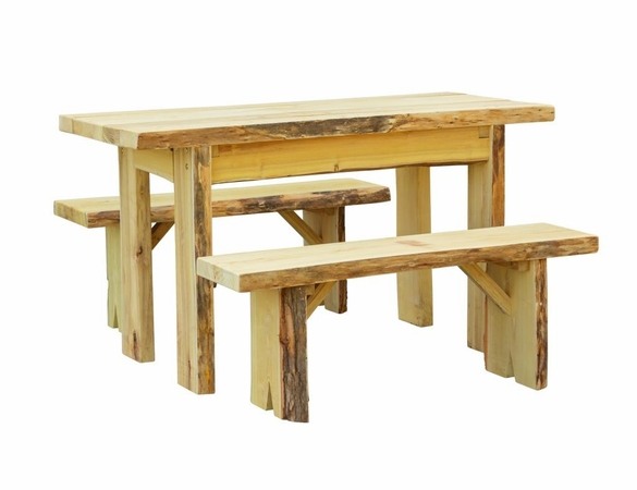 Autumnwood Table Set with Wildwood Benches <br>(Available in 4', 5', 6' and 8')