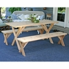 Backyard Bash Cross Legged Picnic Table w/ Detached Benches