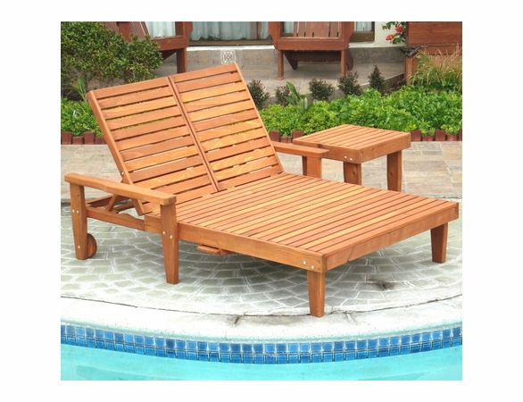 Best Redwood Double Summer Lounge Chair