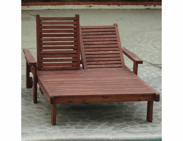 Best Redwood Double Sun Lounge Chair
