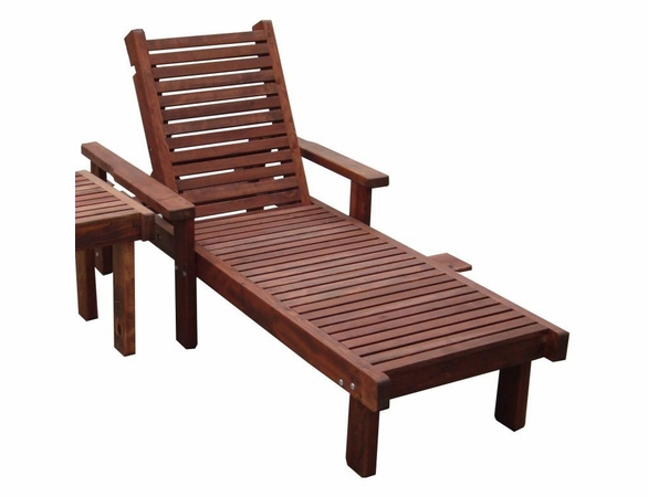 Best Redwood Single Sun Lounge Chair