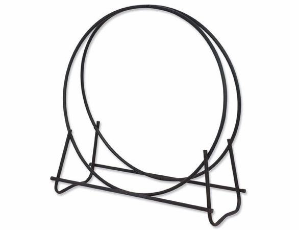 "Black 40"" Diameter Log Firewood Rack Hoop"