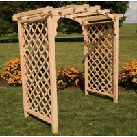 Cambridge Treated Pine Arch Top Arbor - Multiple Sizes Available
