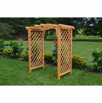 Cambridge Cedar Arch Top Arbor - Multiple Sizes Available